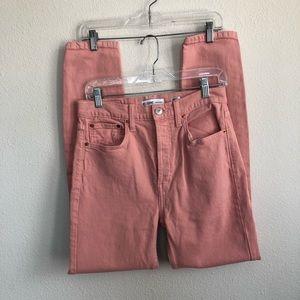 Re / done high rise stretch blush intermix jeans